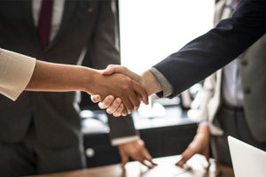 enterprise and customer handshake